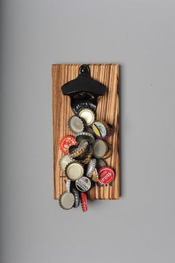 Custom Made Engraved Zebrawood Magnetic Bottle Opener