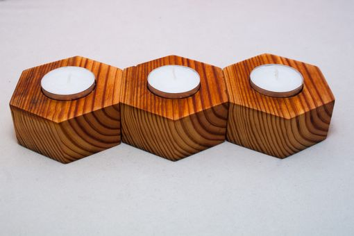 Custom Made Reclaimed Wood Tealight Holders