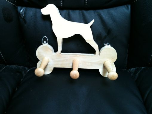 Custom Made Wooden Labrador Leash Hanger