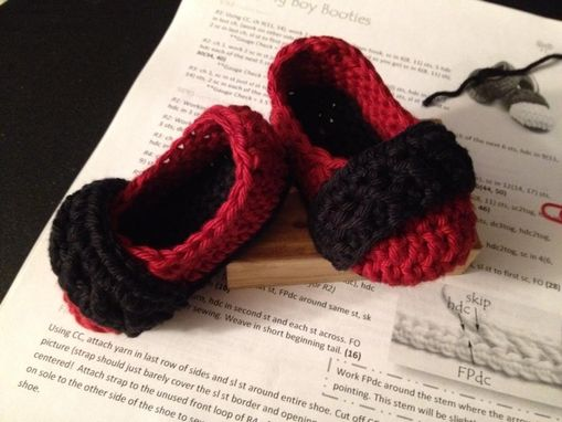 Custom Made Strappy Crochet Baby Booties