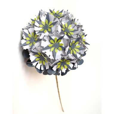 Custom Made Wedding Bouquet Replica In Paper
