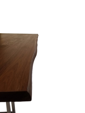 Custom Made Walnut Slab Table With Natural Oiled Finish