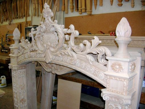 Custom Made Carved Fireplace Mantel