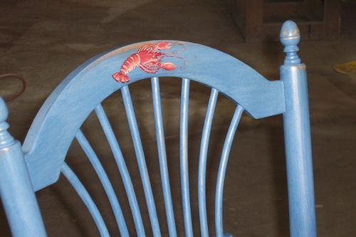 Custom Made Fan Stool With Coastal Theme