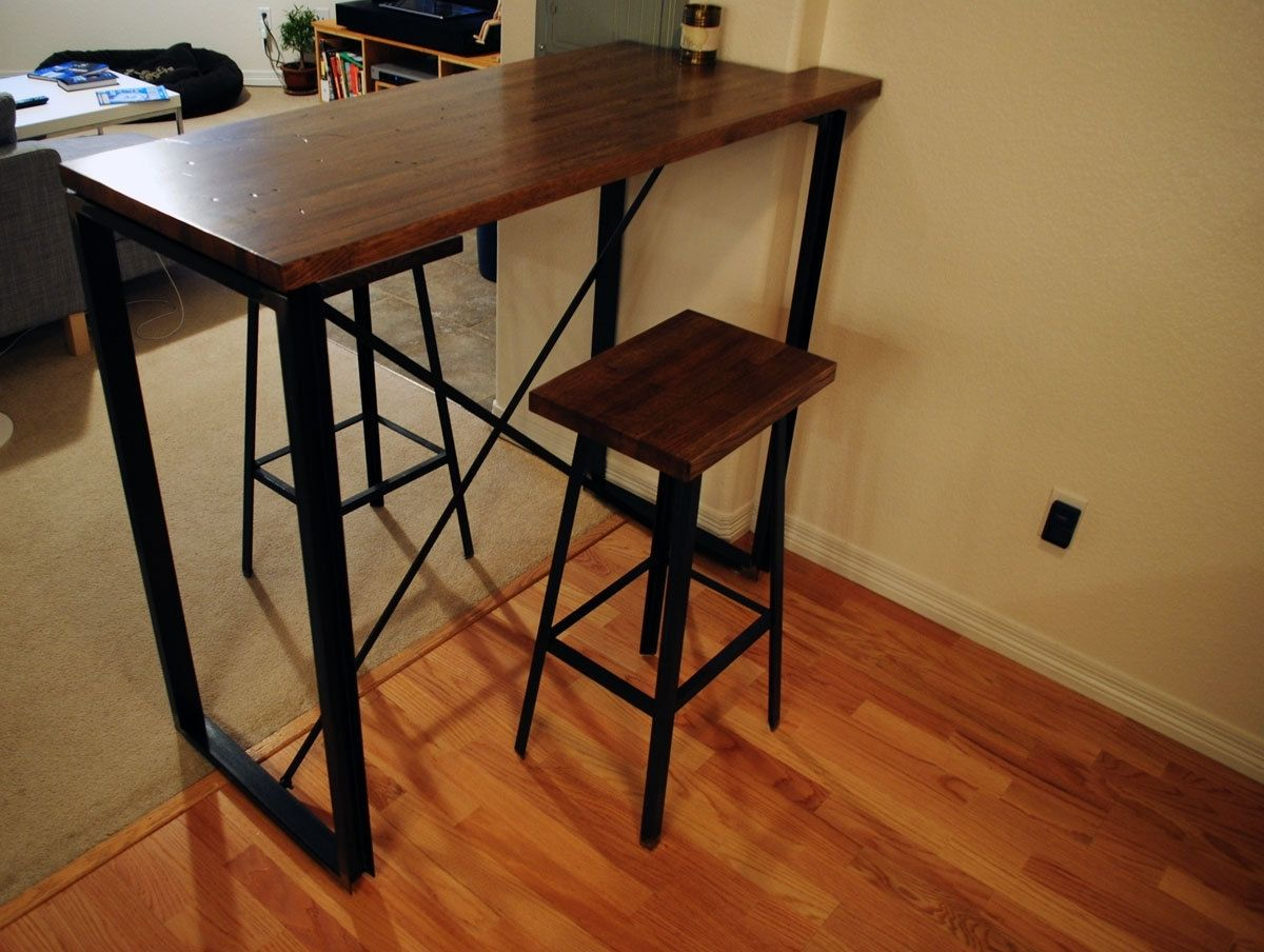 handmade industrial bar table by bolderelements. Black Bedroom Furniture Sets. Home Design Ideas