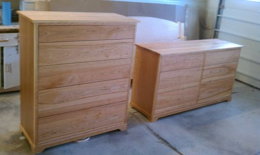 Custom Made Cherry 5 Drawer Chest & 6 Drawer Dresser