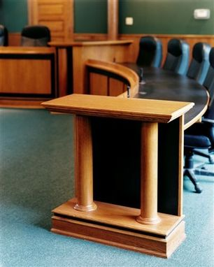 Custom Made Court Bench Counter Dais Podium
