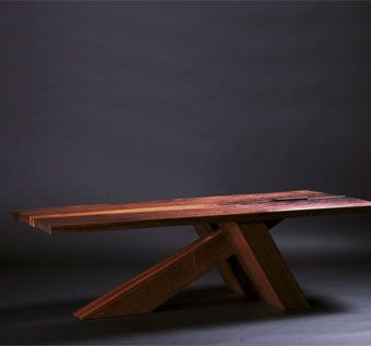 Custom Made Cantilevered Walnut Coffee Table