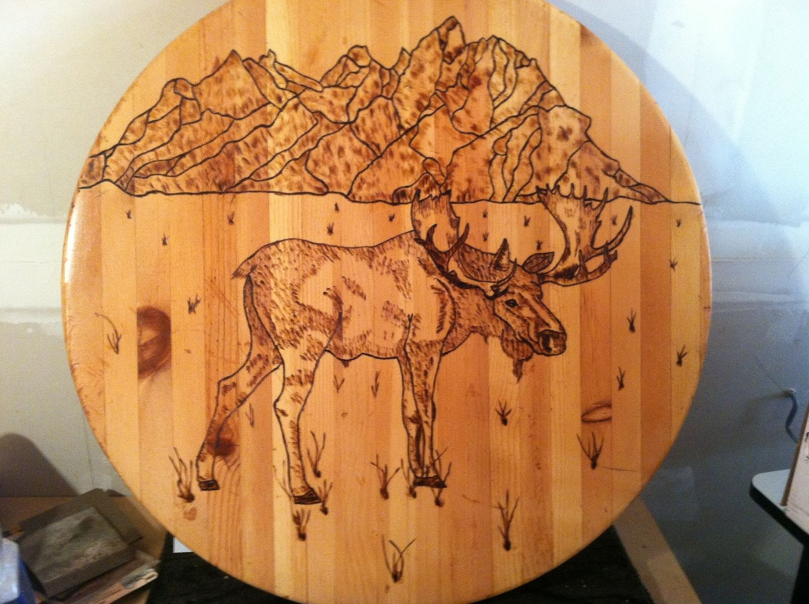 Hand Crafted Wood Burning By Custom Glass Etching