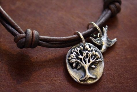Custom Made Fine Silver - Tree Of Life Charm Bracelet - $90