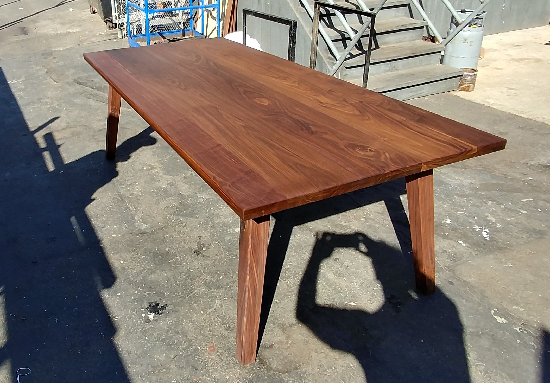 Marvelous Hand Made Massive Solid Walnut Dining Table By Antikea Creativecarmelina Interior Chair Design Creativecarmelinacom
