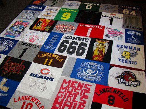 Custom Made King Size Custom Tshirt Quilt