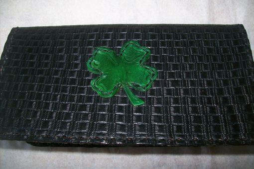 Custom Made Leather Checkbook Cover