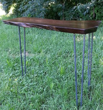 Custom Made Walnut Console Table- Laptop Desk- Writing Desk- Live Edges- Sofa Table