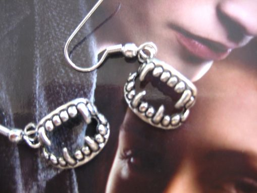 Custom Made Sale Vampire Twilight Inspired Fang Earrings, Ready To Ship