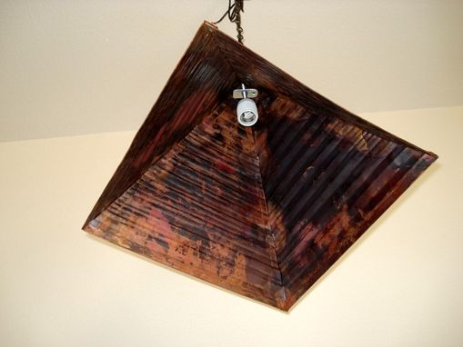 Buy a Custom Made Copper Pyramid Chandelier, made to order from Mike