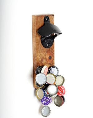 "Custom Made Compact ""Rustica"" Ambrosia Maple Magnetic Bottle Opener"