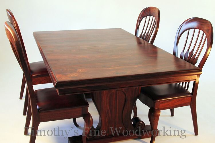 hand crafted old world style dining table and chairs by timothy s