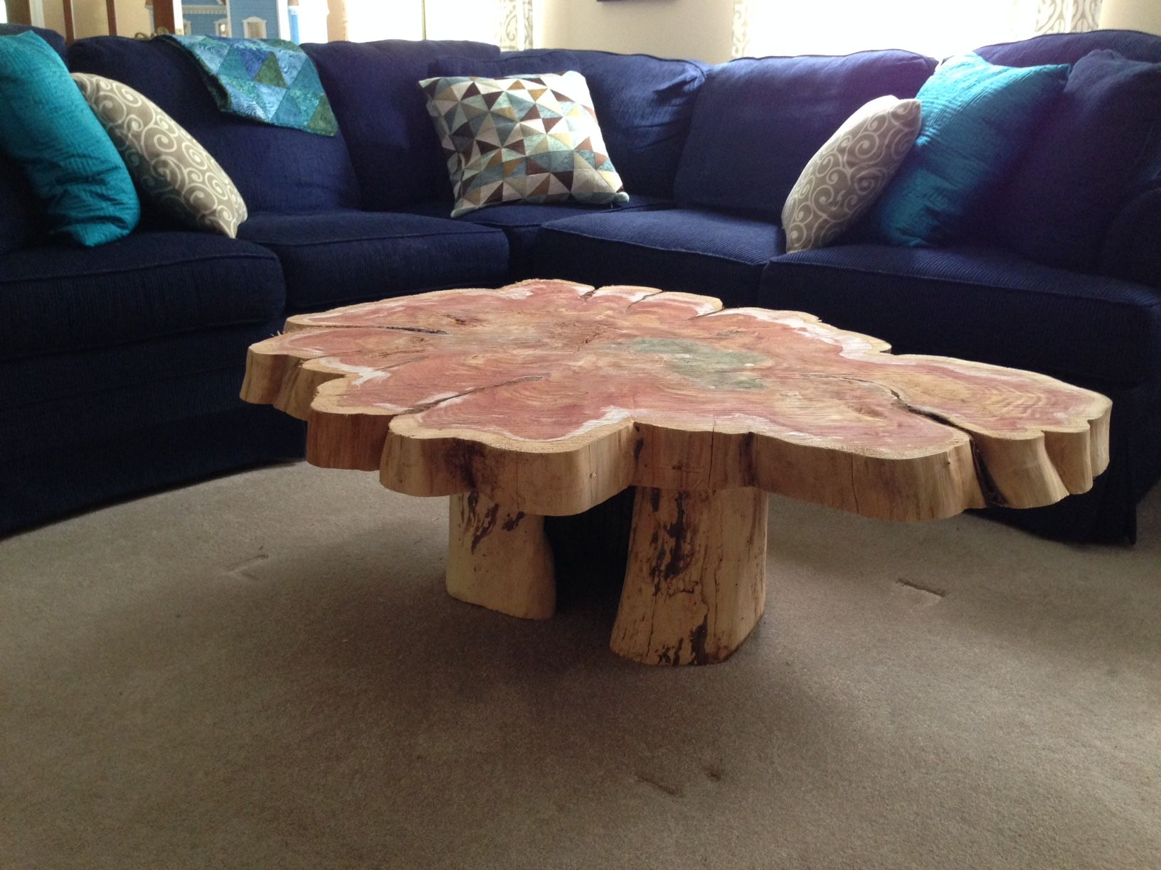 Buy a Hand Made Red Cedar Table made to order from Custom