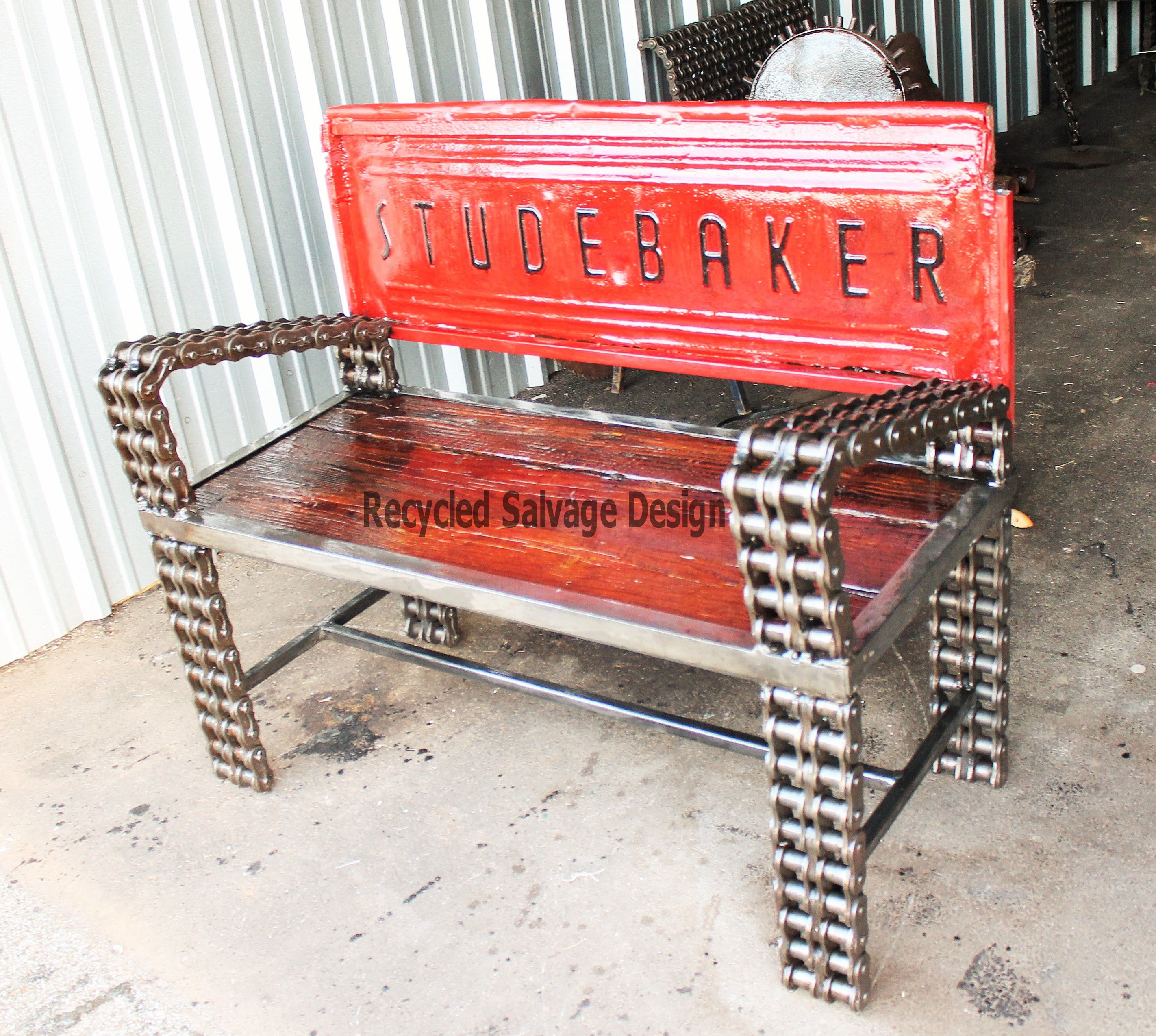 Hand made truck tailgate garden bench garden benches Custom furniture made car parts