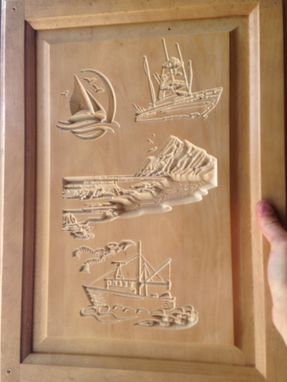 Custom Made Custom Carved Kitchen Cabinets