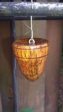 Custom Made Christmas Ornaments, Hand Turned Oak  Pair