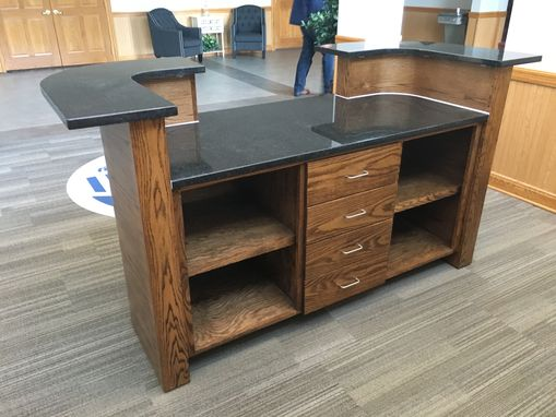 Custom Made Curved Oak Reception Desk