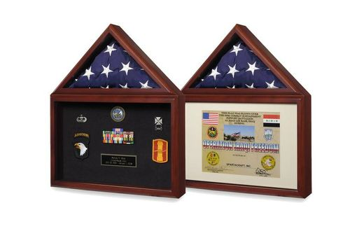 Custom Made Air Force Flag And Medal Display Box- Shadow Box