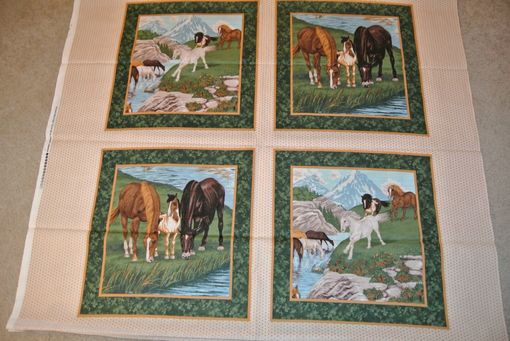 Custom Made Panel Lap Quilts - Water Horse