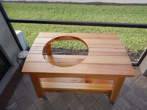 Custom Made Big Green Egg Grilling Table