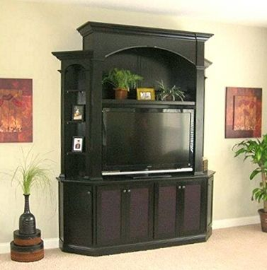 Custom Made Black Cherry Entertainment Center
