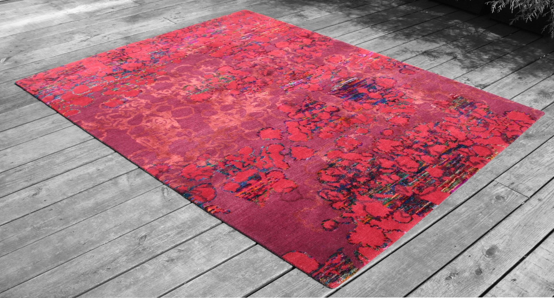 Hand Crafted Recycled Sari Silk Rug Series By Bennett Bean