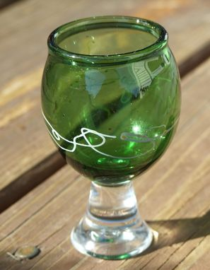 Custom Made Shot Glass, Green