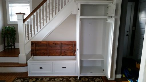 Custom Made Entry Bench And Cabinet