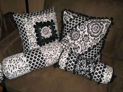 Custom Made Black And White Pillow Suite