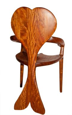 Custom Made Bee's Wing Mahogany Chair
