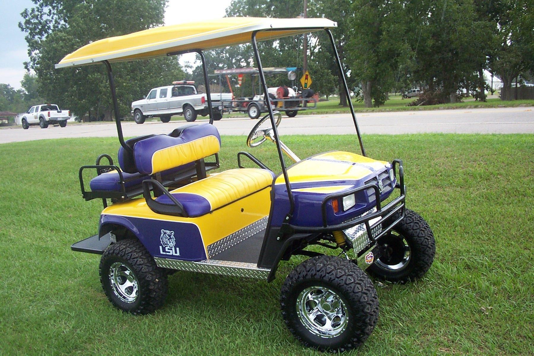 Handmade Lsu Golf Cart by Bayou Boogie Customs | CustomMade.com