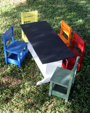 Custom Made Elementary Trestle Table