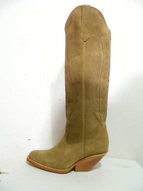 Custom Made Made To Order Custom Made Genuine Leather Boots 22 Inches Tall Or Taller