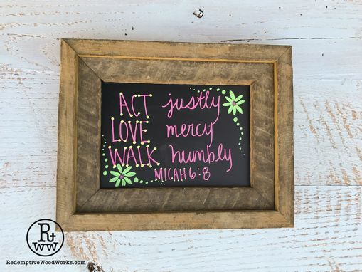 Custom Made Rustic Chalkboard From Reclaimed Wood