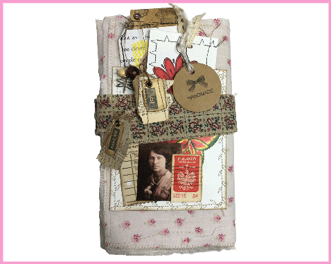Custom Made Fold Out Vintage Tag Journal