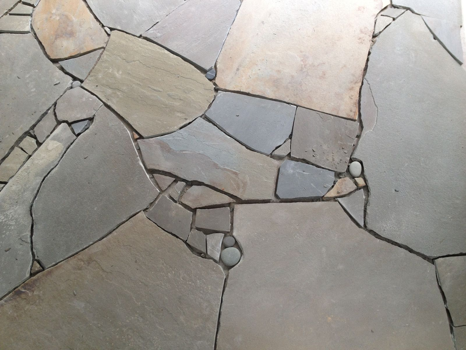 Handmade Bathroom Slate Floor by ROCKS Stonemasonry