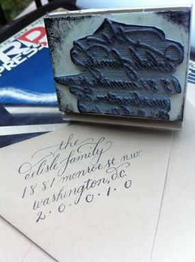 Custom Made Custom Calligraphy Stamps