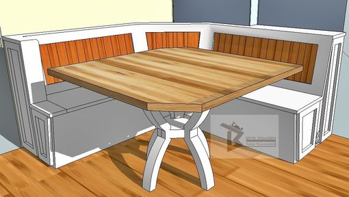 Custom Made Breakfast Nook With Maple Table.