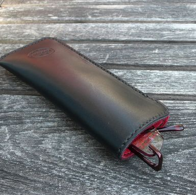 Custom Made Garny No.23 - Reading Glass Case -  Deerskin Lined Leather