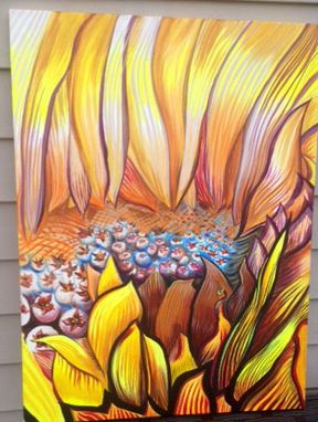 Custom Made Street Art Graffiti Sunflower Painting