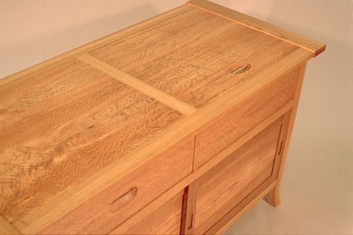 Custom Made Oak Stereo Cabinet