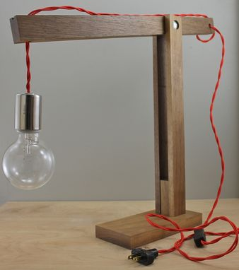 Custom Modern Quot Catapult Quot Wood Desk Lamp By Scandalaskan