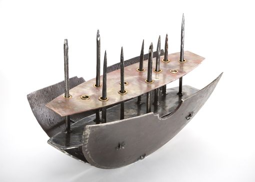 Custom Made Hand Forged Metal Boat With Attitude