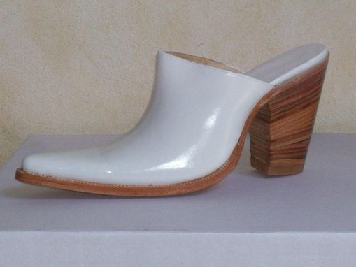 Custom Made Custom Mule Shoe 3, 4 Or 5 Inches Heels, Shoe Made To Order To Your Instructions